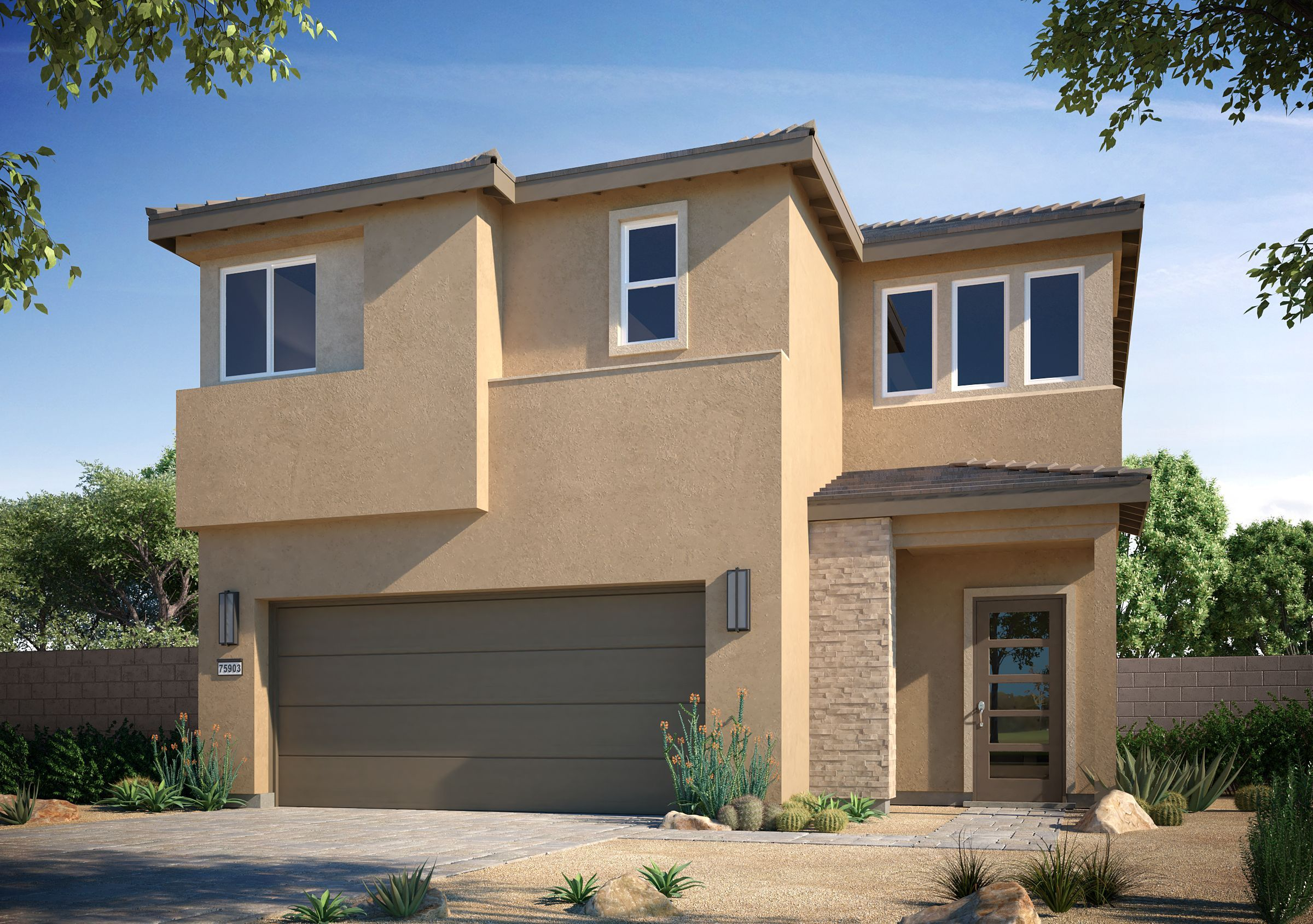 Exterior featured in the Magnolia at Silverleaf By Taylor Morrison in Las Vegas, NV