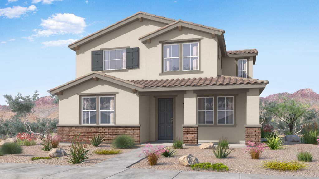 Exterior featured in the Plan CC-RM3 By Taylor Morrison in Phoenix-Mesa, AZ