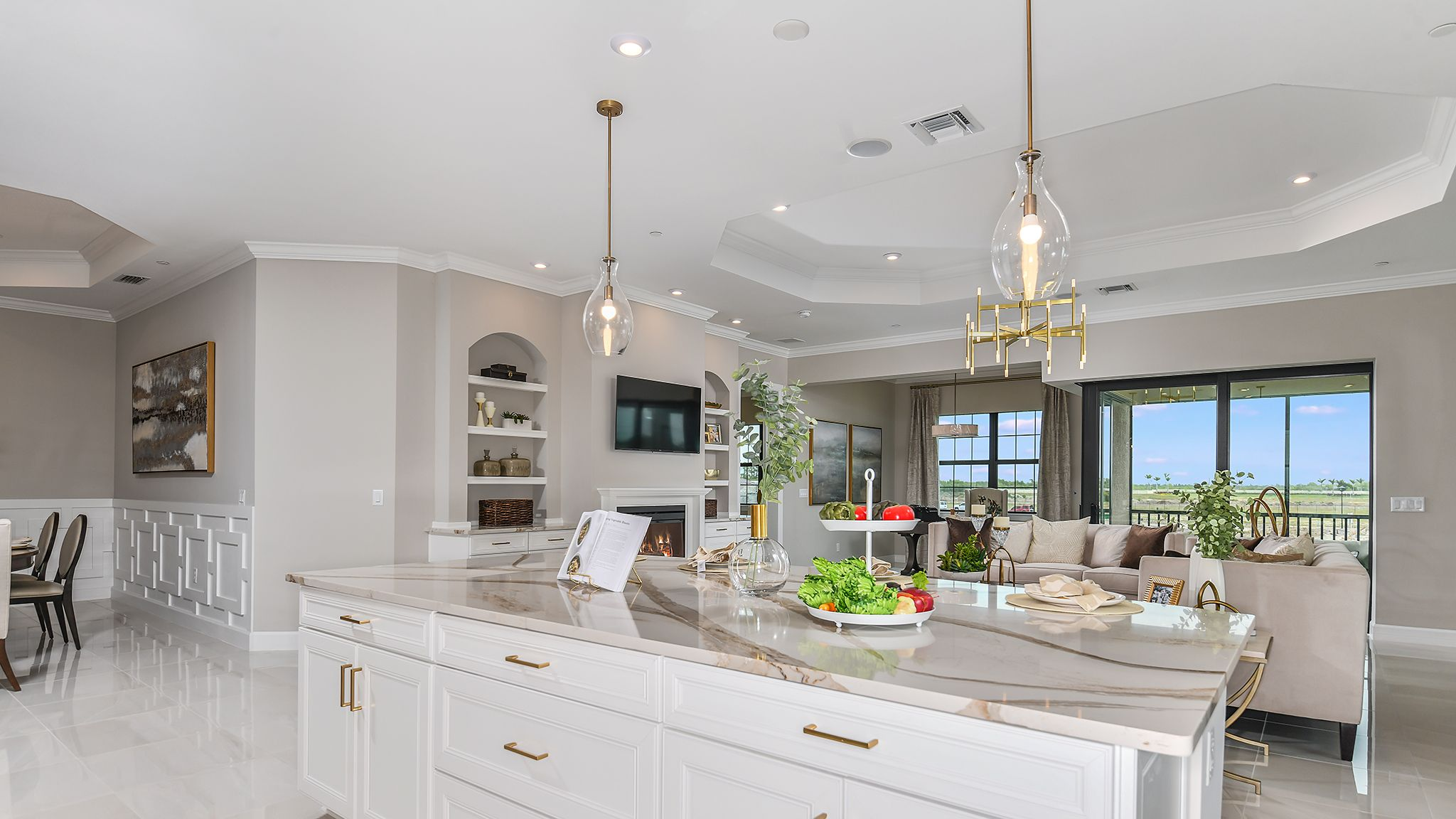 Living Area featured in the Romano By Taylor Morrison in Naples, FL