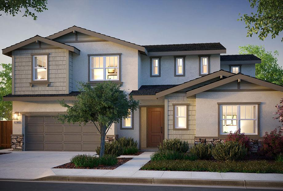 Exterior featured in the Bristol Plan 3 By The New Home Company in Vallejo-Napa, CA