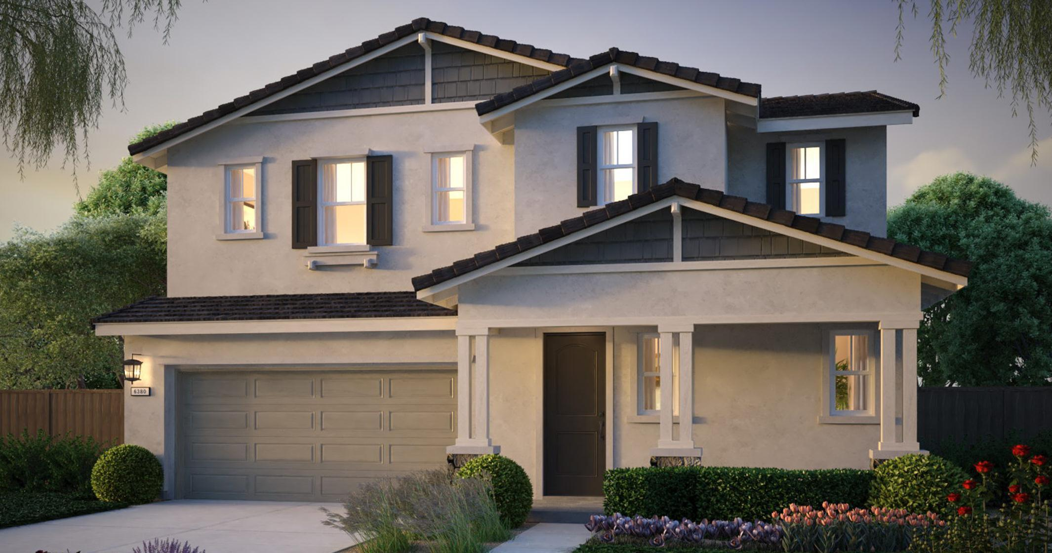 Exterior featured in the Sheffield Plan 2 By The New Home Company in Vallejo-Napa, CA