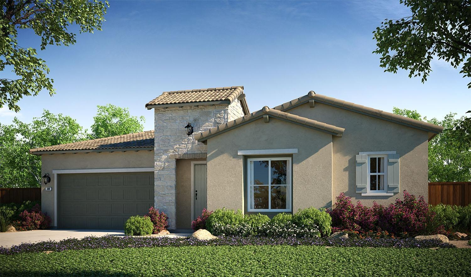 Exterior featured in the Plan 1 By The New Home Company in Sacramento, CA