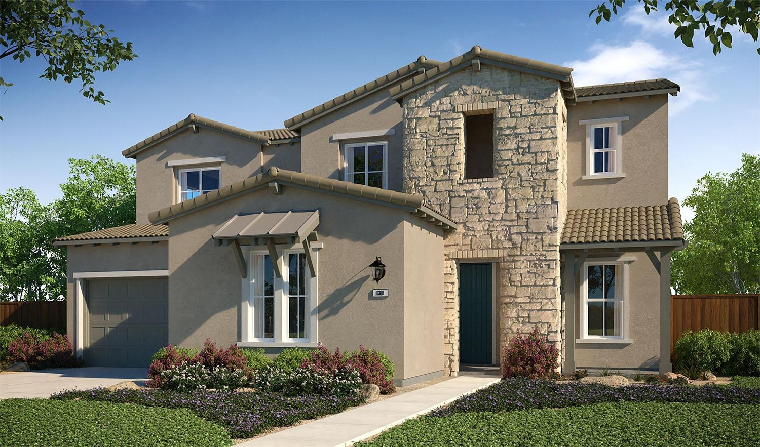 Exterior featured in the Plan 4 By The New Home Company in Sacramento, CA