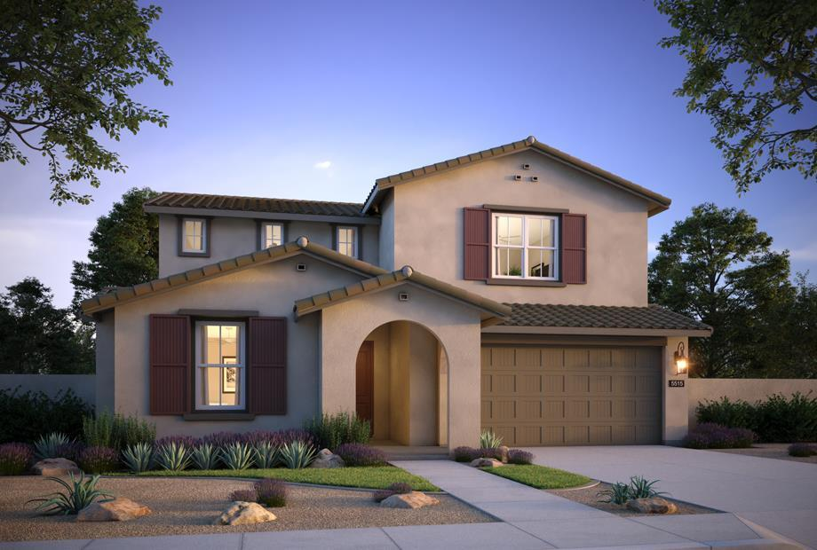 Exterior featured in the Plan 1 By The New Home Company in Phoenix-Mesa, AZ