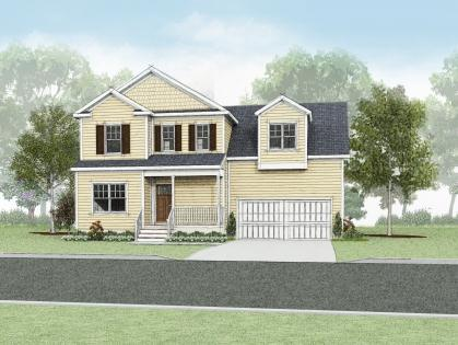 Exterior featured in the Chestnut  By Wetherington Homes in Norfolk-Newport News, VA