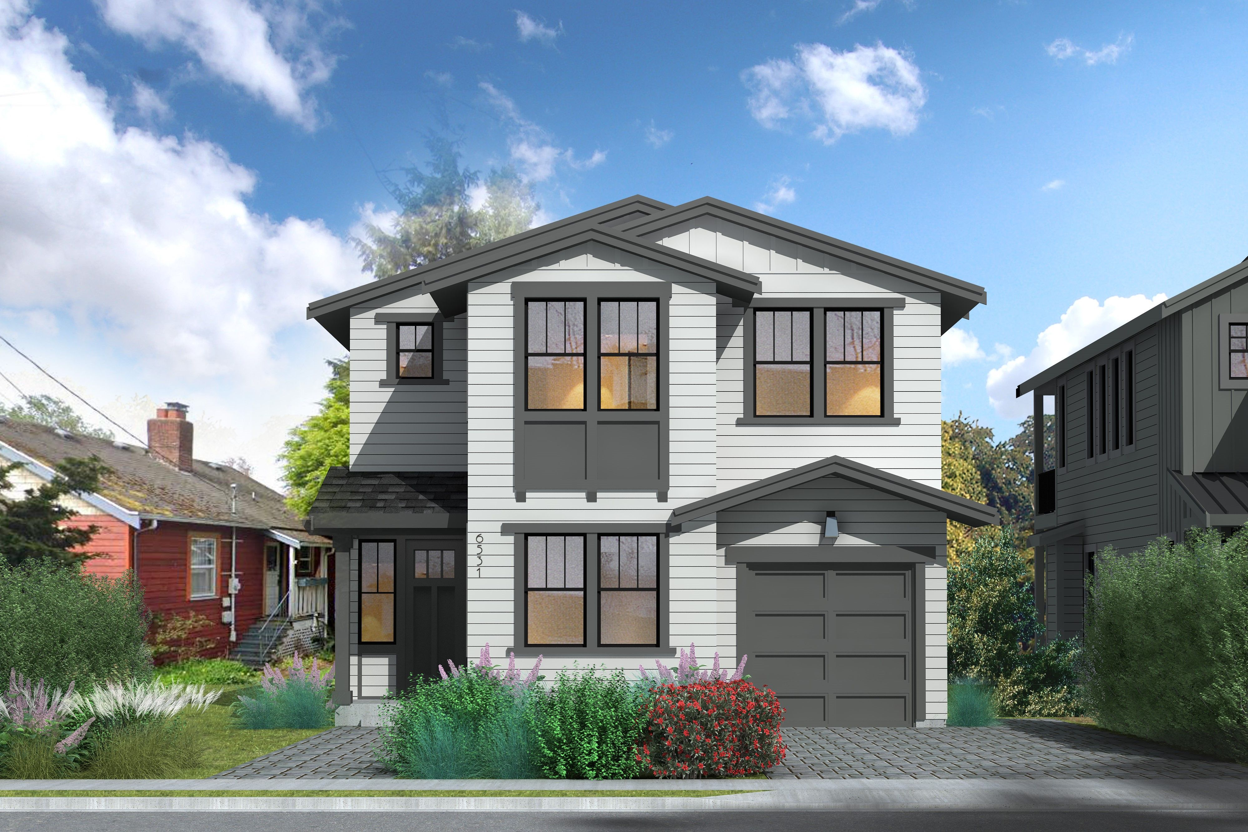 Exterior featured in The Tamarack Collection - Traditional By Thomas James Homes