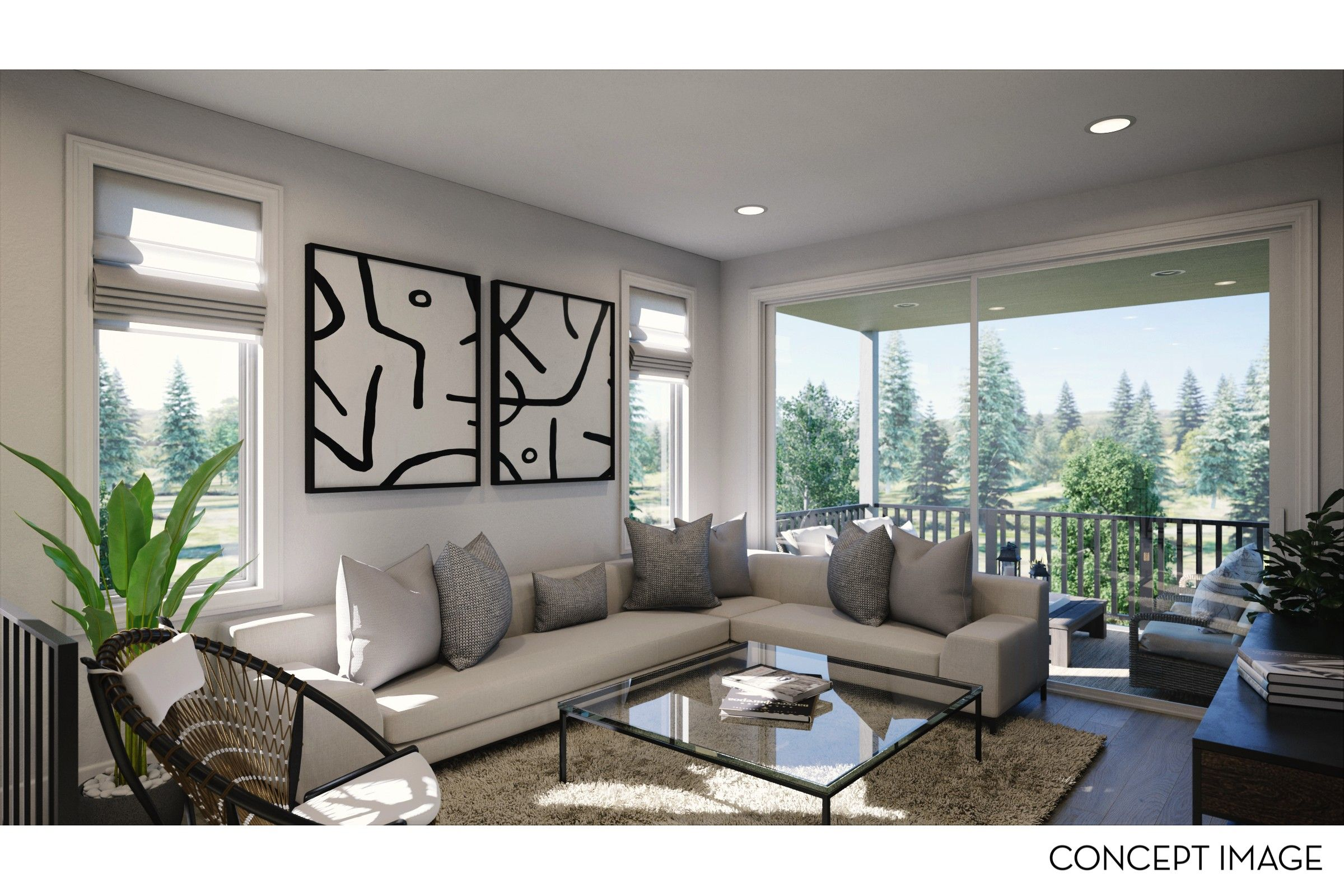 Living Area featured in The Tamarack Collection - Farmhouse By Thomas James Homes