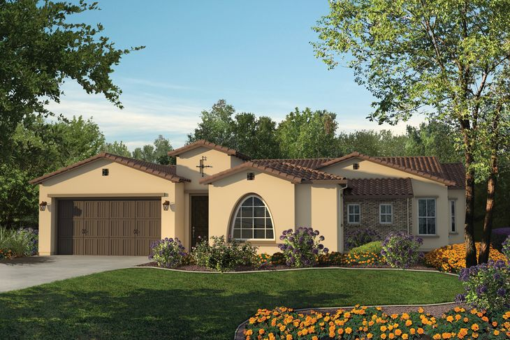 Elevation A:Spanish Ranch