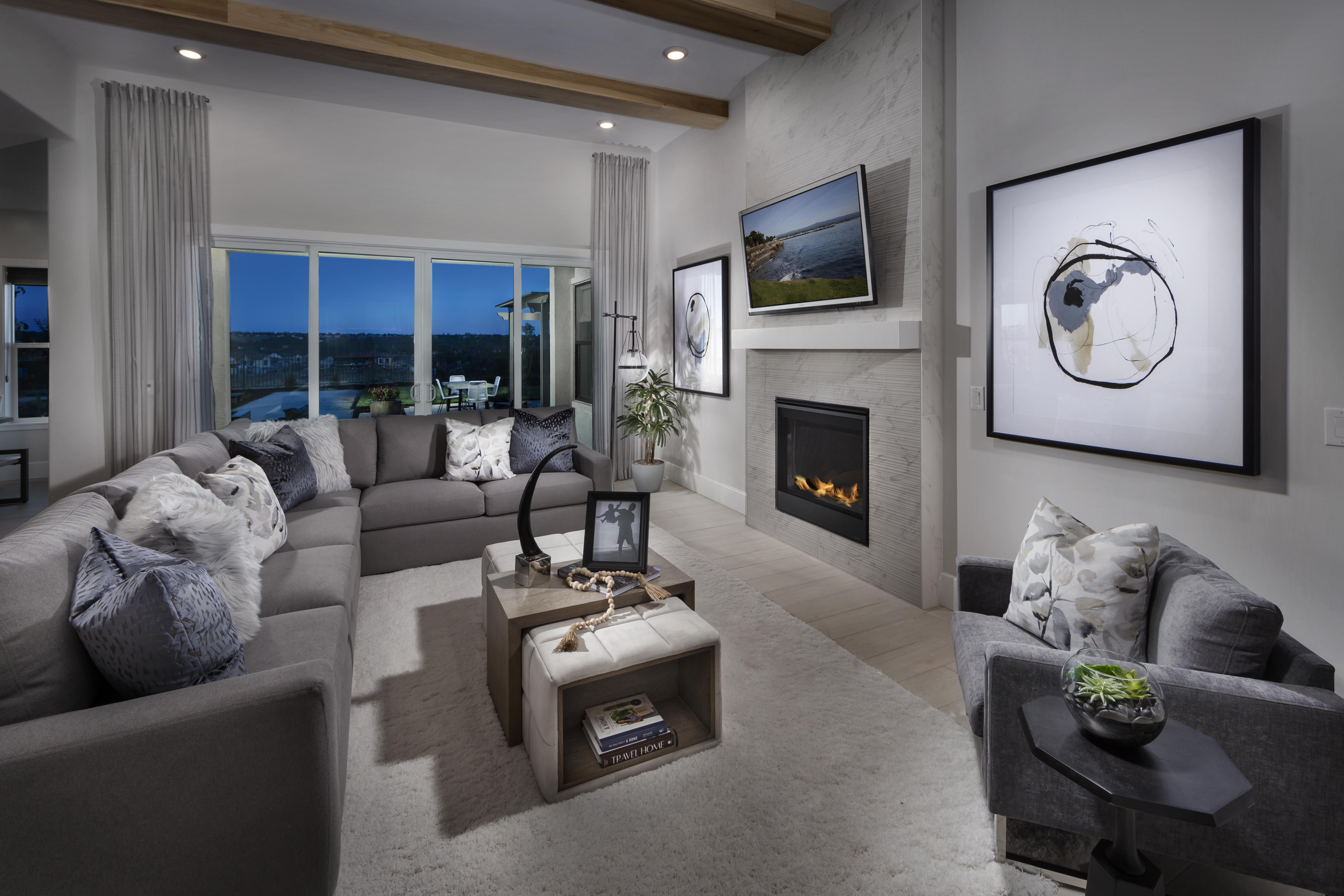 Living Area featured in the Residence One-X By Tim Lewis Communities in Sacramento, CA