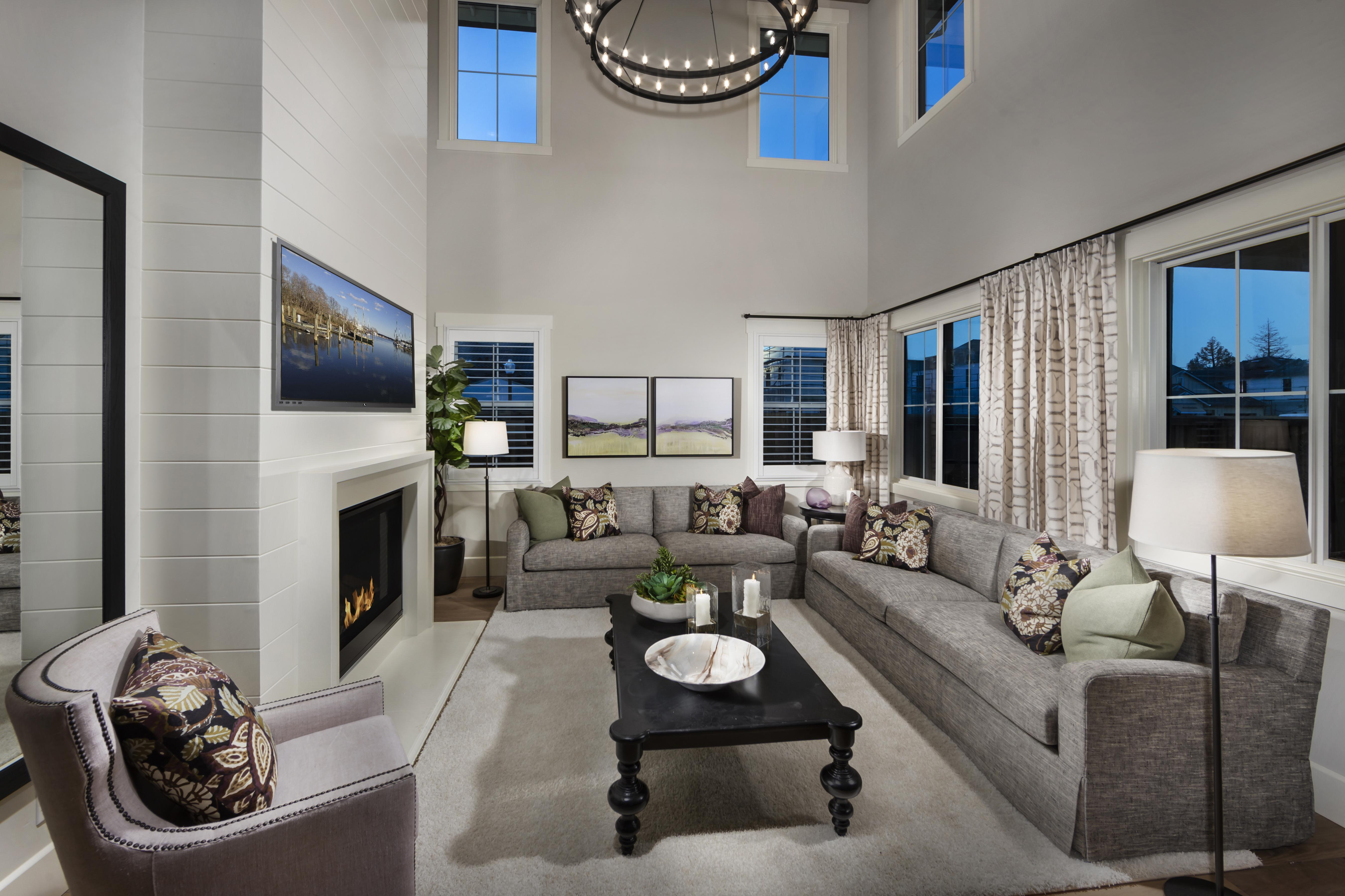 Living Area featured in the Residence Three By Tim Lewis Communities in Sacramento, CA