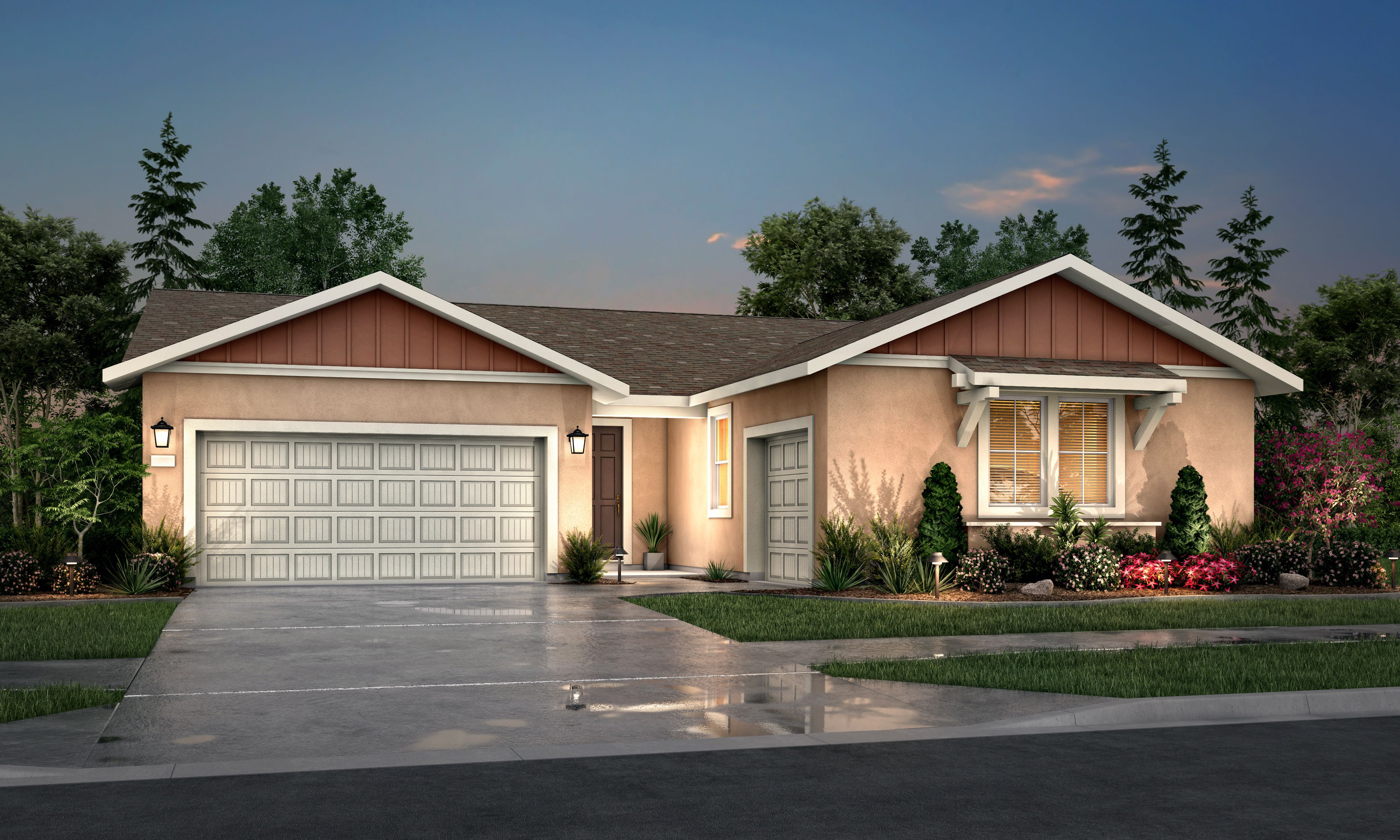 Exterior featured in the Residence 3 By Tim Lewis Communities in Sacramento, CA