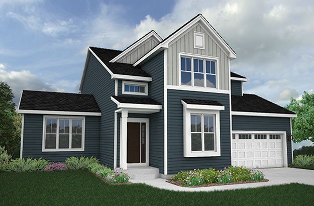 Exterior featured in the Monterey By Tim O'Brien Homes in Madison, WI
