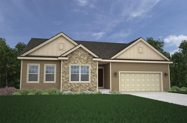 Exterior featured in the Chestnut By Tim O'Brien Homes in Madison, WI