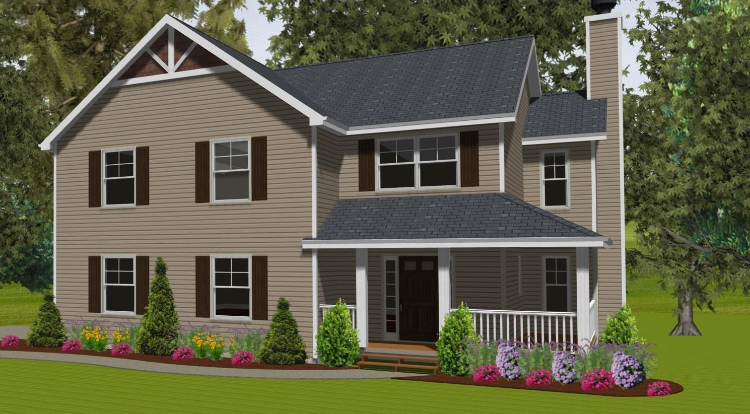 Exterior featured in The Sycamore By Timbercrest Builders in Poconos, PA