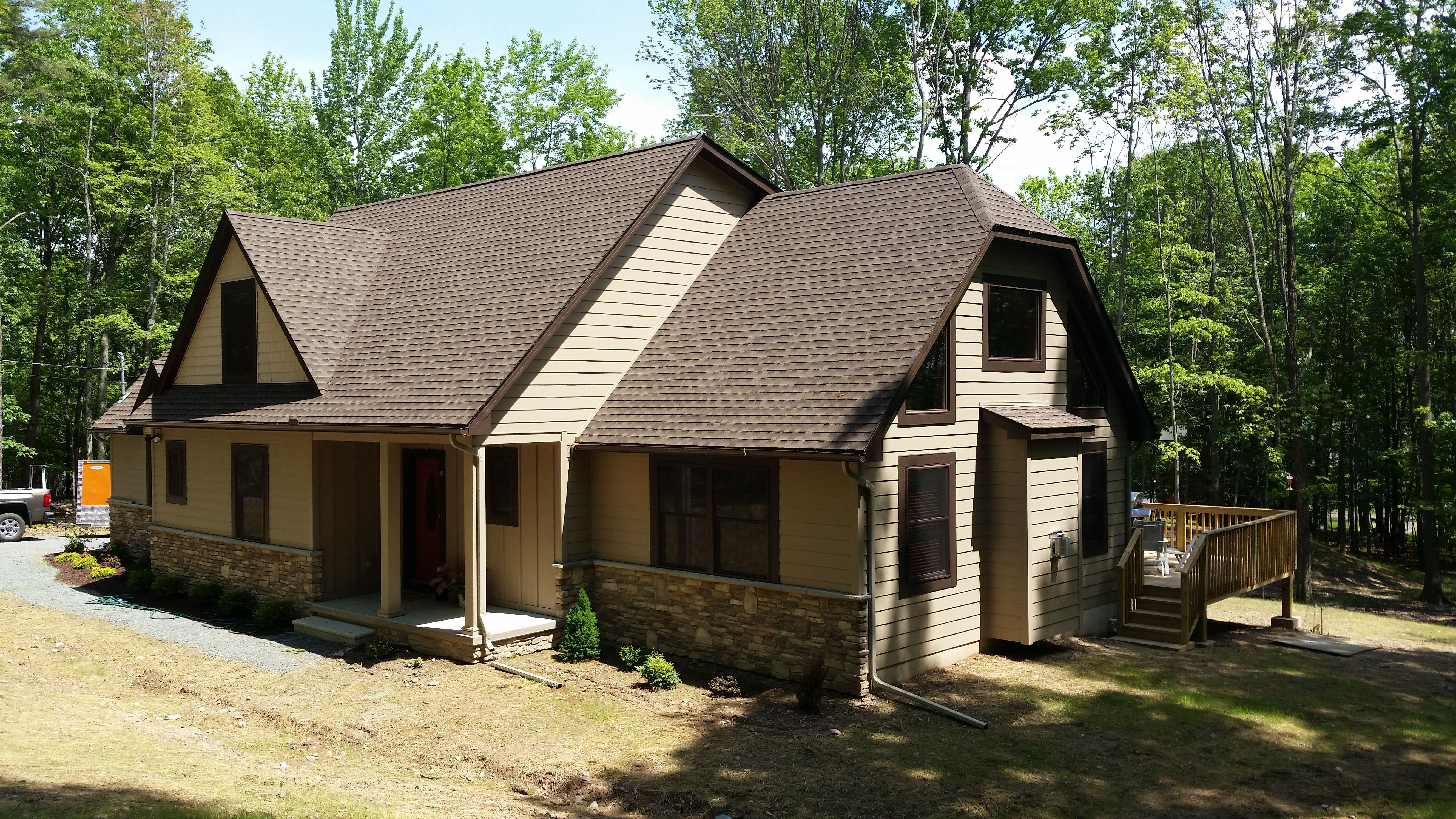 Exterior featured in The Aspen By Timbercrest Builders in Poconos, PA