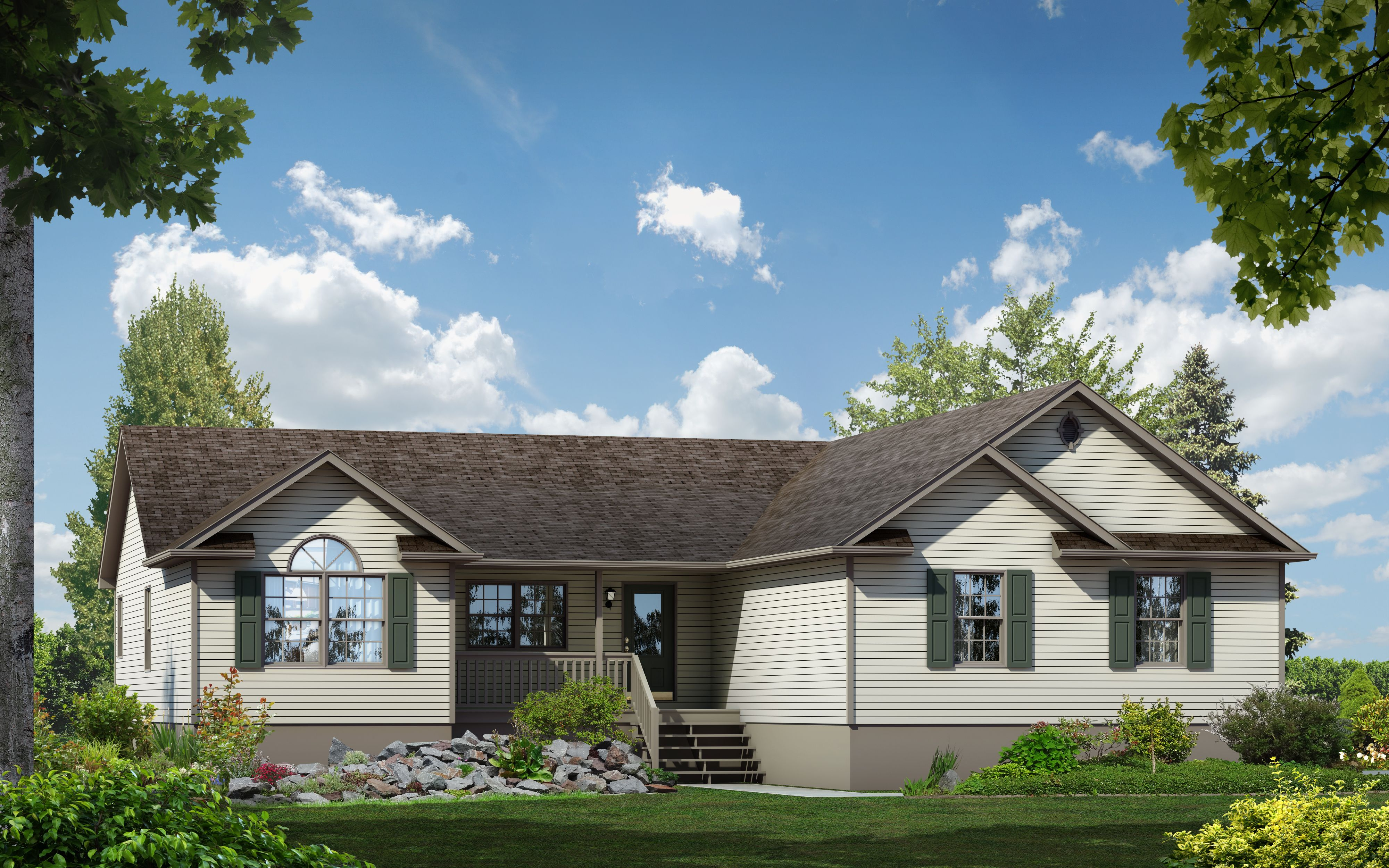 Exterior featured in The Linden By Timbercrest Builders in Poconos, PA