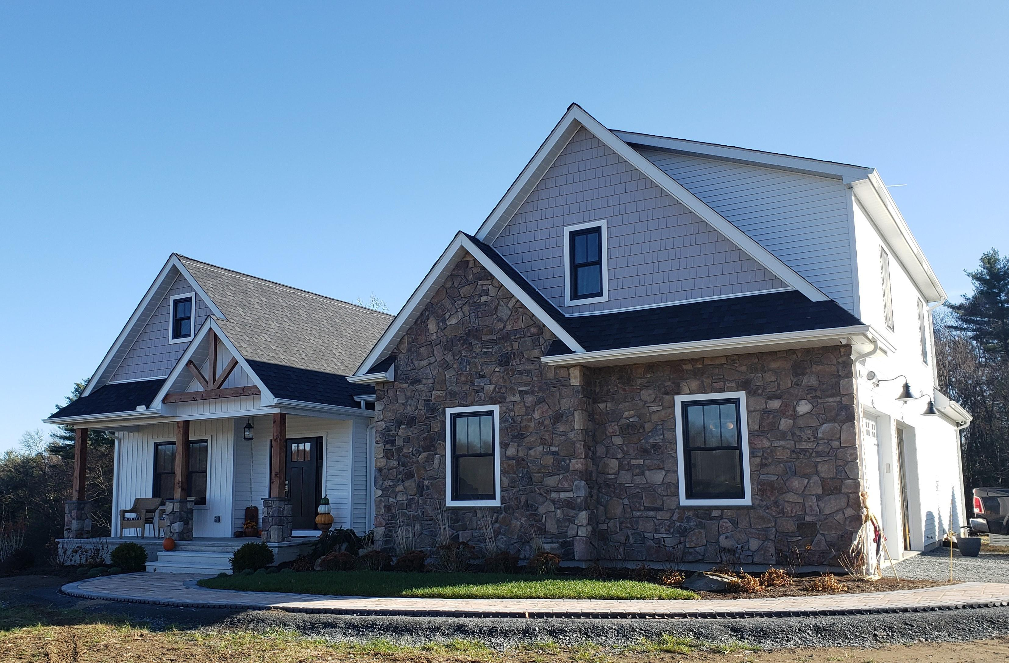 Exterior featured in The Hickory By Timbercrest Builders in Poconos, PA