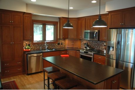 Kitchen-in-Custom-at-Timbercrest Builders-in-Paupack