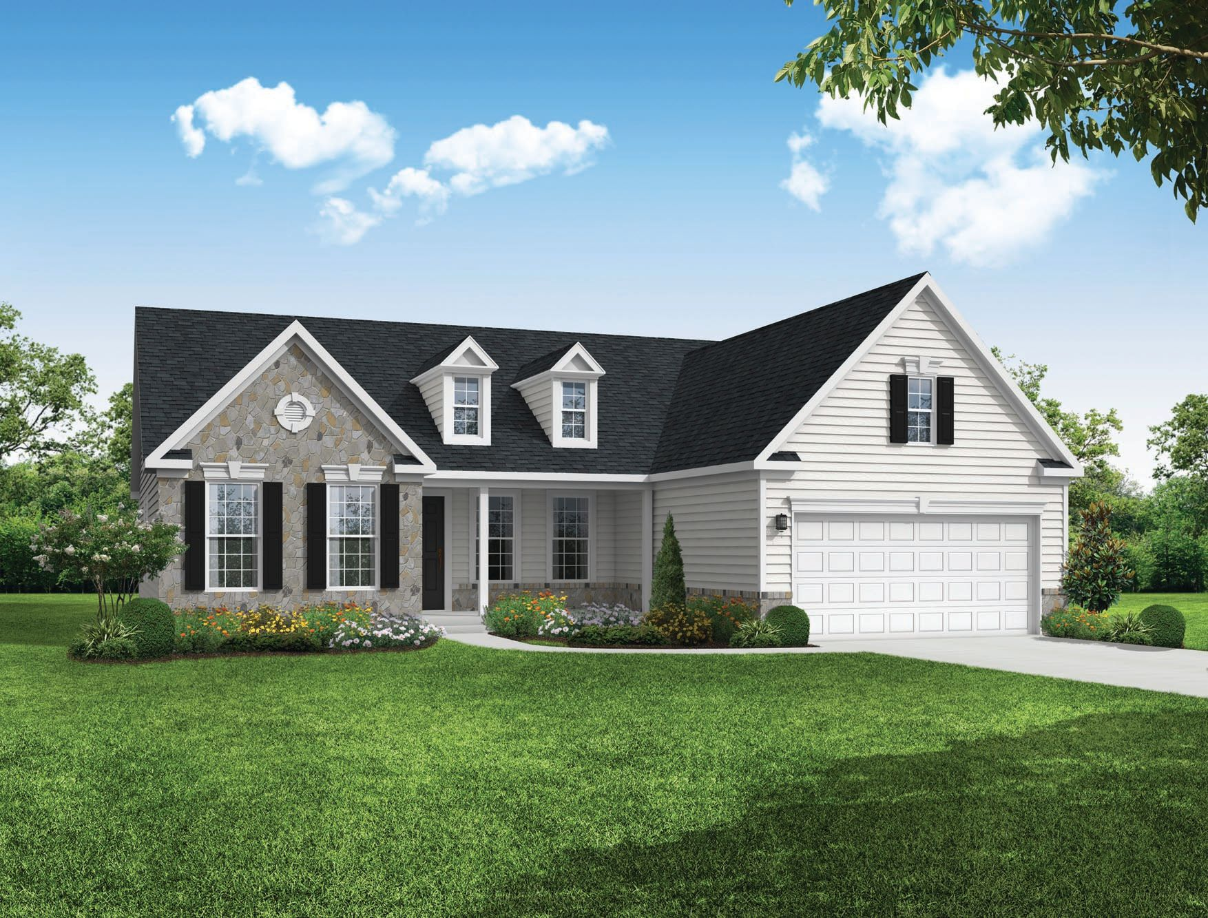 Exterior featured in the Warwick By Timberlake Homes in Dover, DE