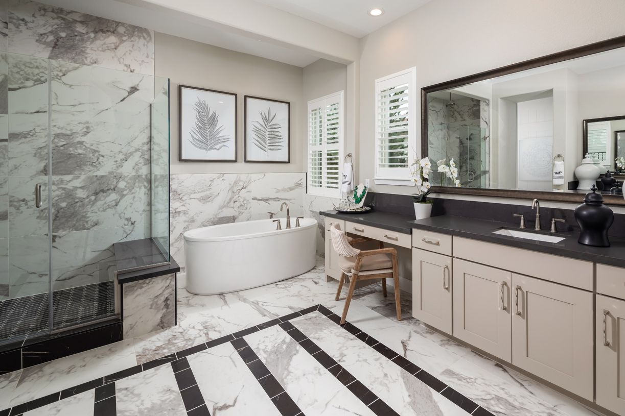 Bathroom featured in the Lincoln By Toll Brothers in Sacramento, CA