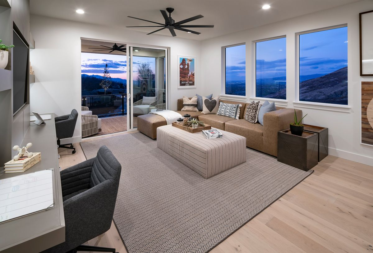 Living Area featured in the Porter By Toll Brothers in Salt Lake City-Ogden, UT