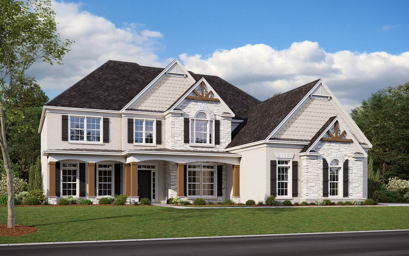 Exterior featured in the Rosebriar By Toll Brothers in Atlanta, GA
