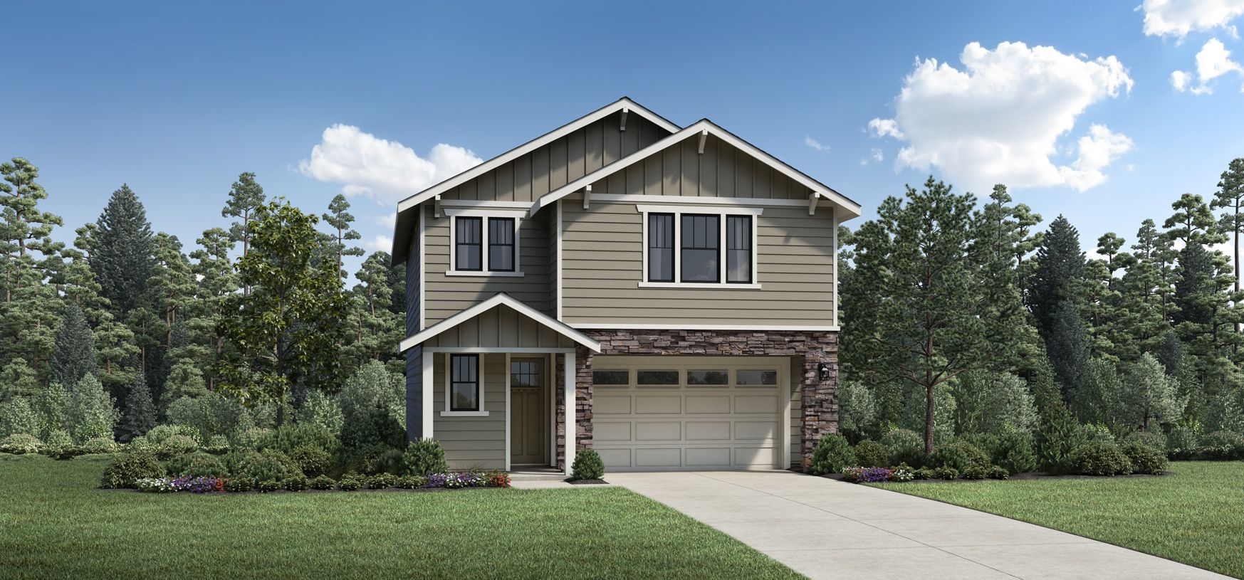 Exterior featured in the Dundee with Basement By Toll Brothers in Portland-Vancouver, OR