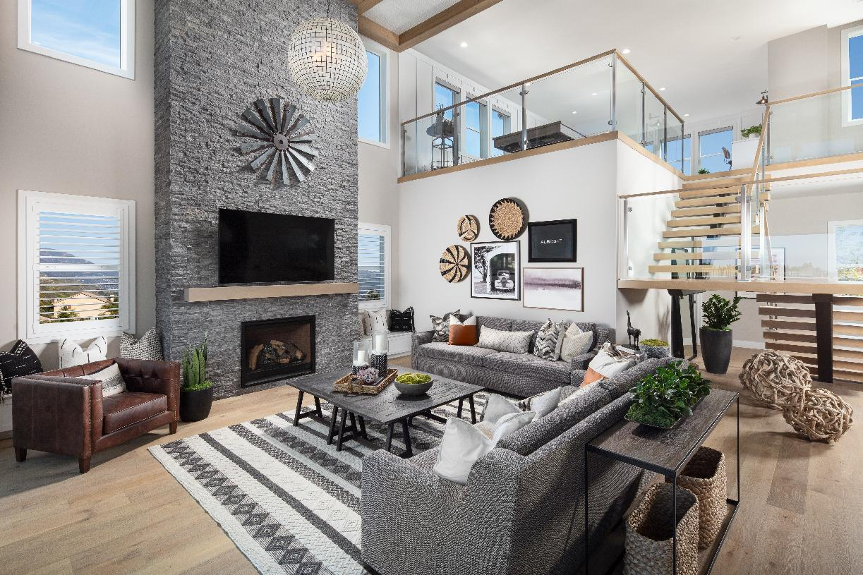 Living Area featured in the Auburn By Toll Brothers in Sacramento, CA