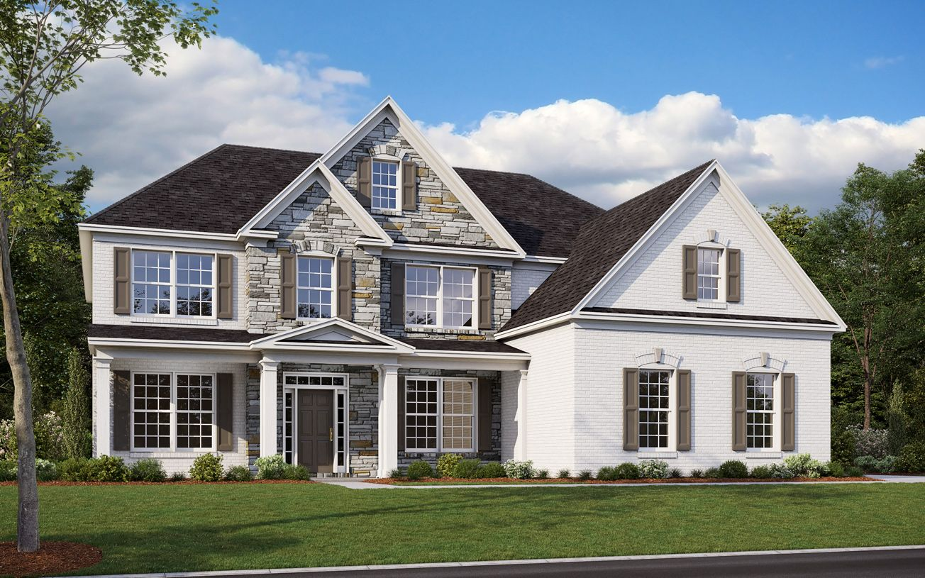 Exterior featured in the Rosehill III By Toll Brothers in Atlanta, GA
