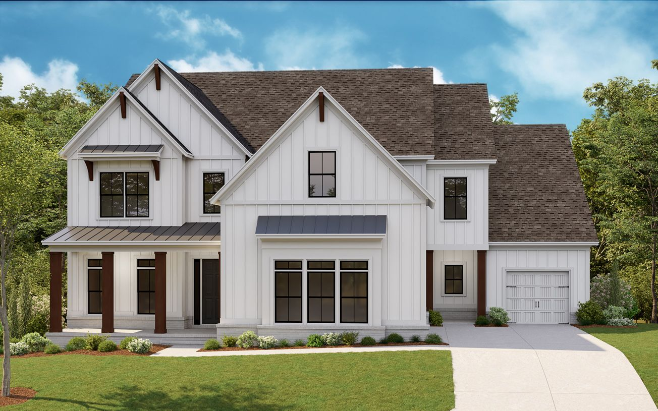 Exterior featured in the Milton By Toll Brothers in Atlanta, GA