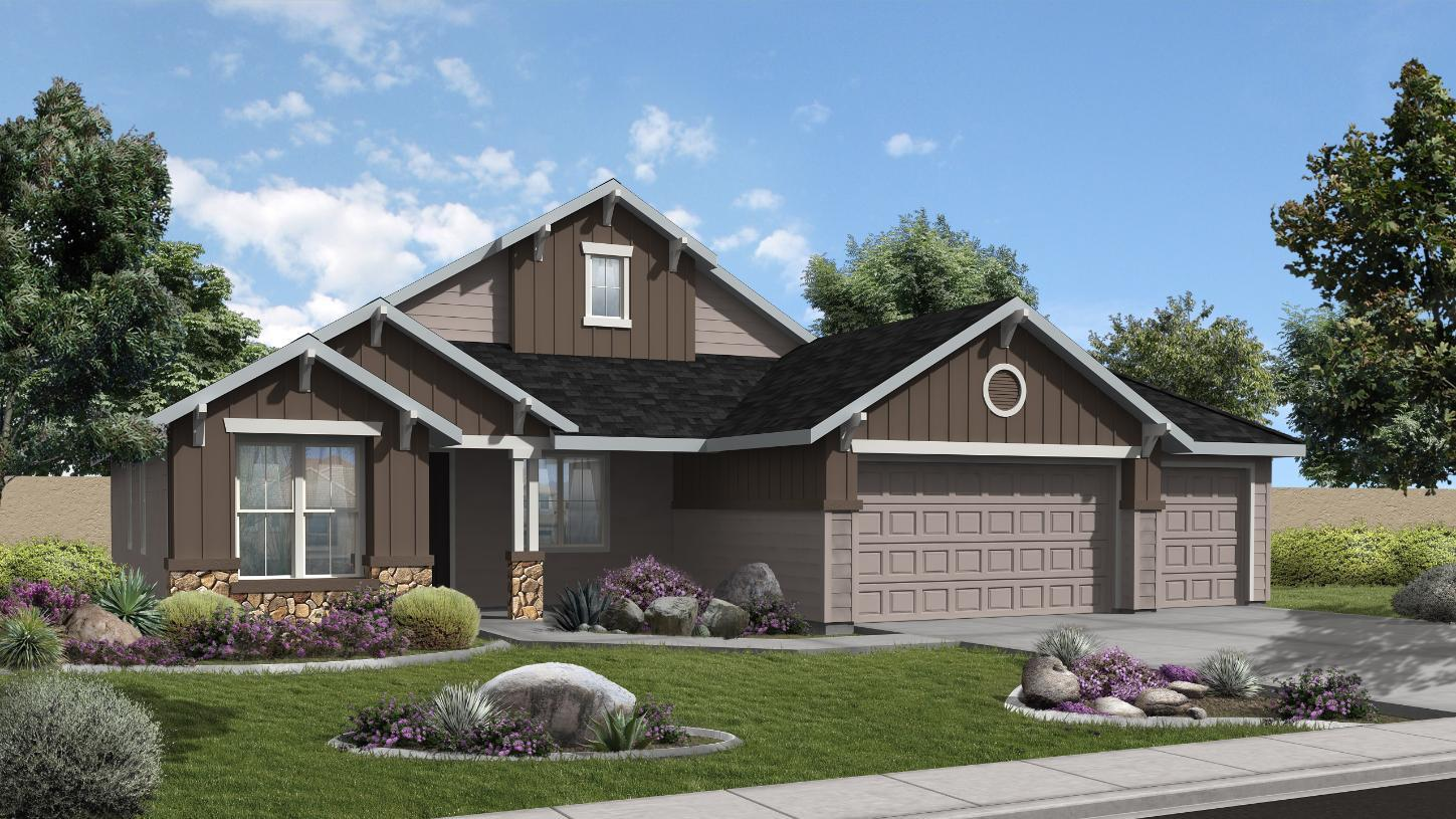 Exterior featured in the Barrett By Toll Brothers in Boise, ID