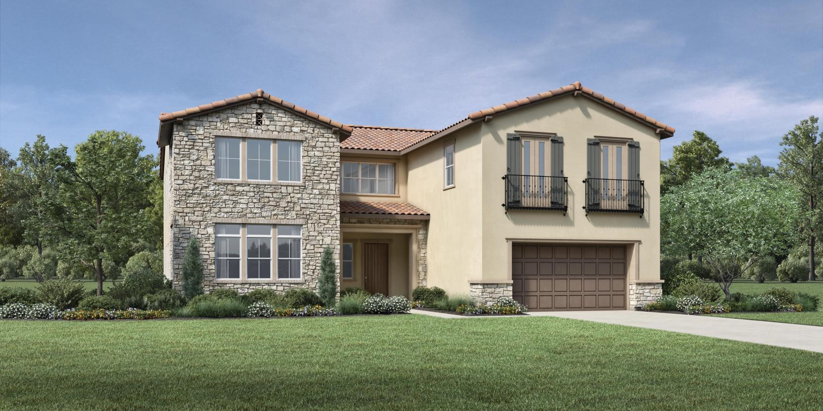 Exterior featured in the Auburn By Toll Brothers in Sacramento, CA