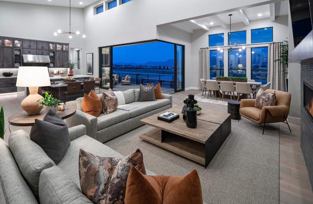 Living Area featured in the Stewart By Toll Brothers in Salt Lake City-Ogden, UT
