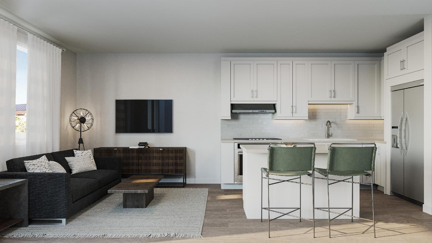 Living Area featured in the Aster By Toll Brothers in San Jose, CA