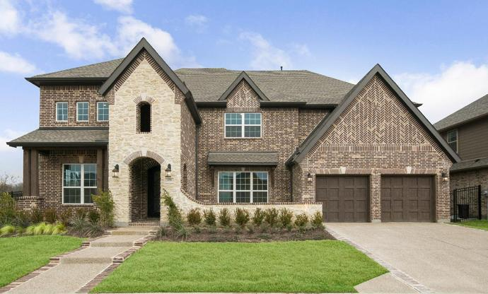 Elevation Image:Beautiful stone accents on entry way