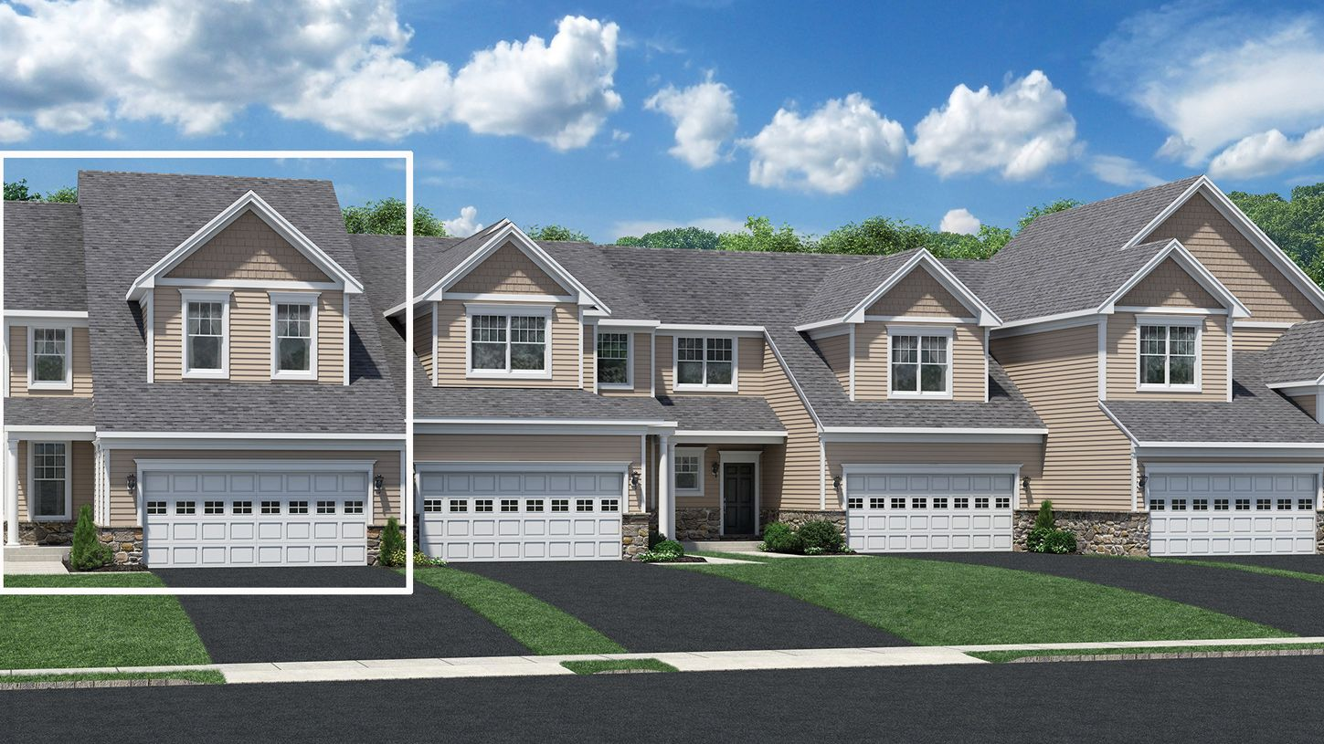 Exterior featured in the Denton By Toll Brothers in Waterbury, CT