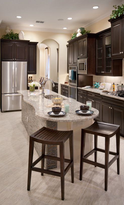 Kitchen-in-Athena-at-Azure at Hacienda Lakes - Heritage Collection-in-Naples