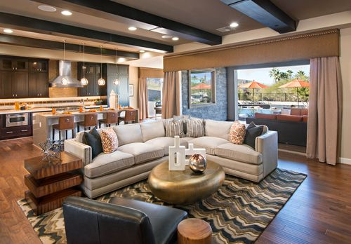 Greatroom-and-Dining-in-Montilla-at-Toll Brothers at Los Saguaros-in-Marana