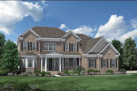 Elevation Image   The Woodbury. Hollister Plan at Estates At Bamm Hollow in Lincroft  New Jersey