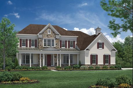 Elevation Image   The Farmhouse. Hollister Plan at Estates At Bamm Hollow in Lincroft  New Jersey