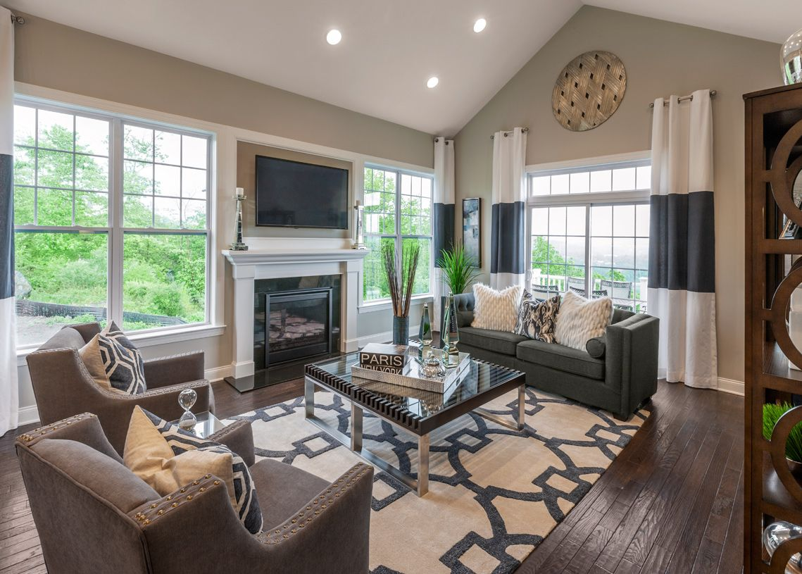 Living Area featured in the Brandeis By Toll Brothers in Danbury, CT