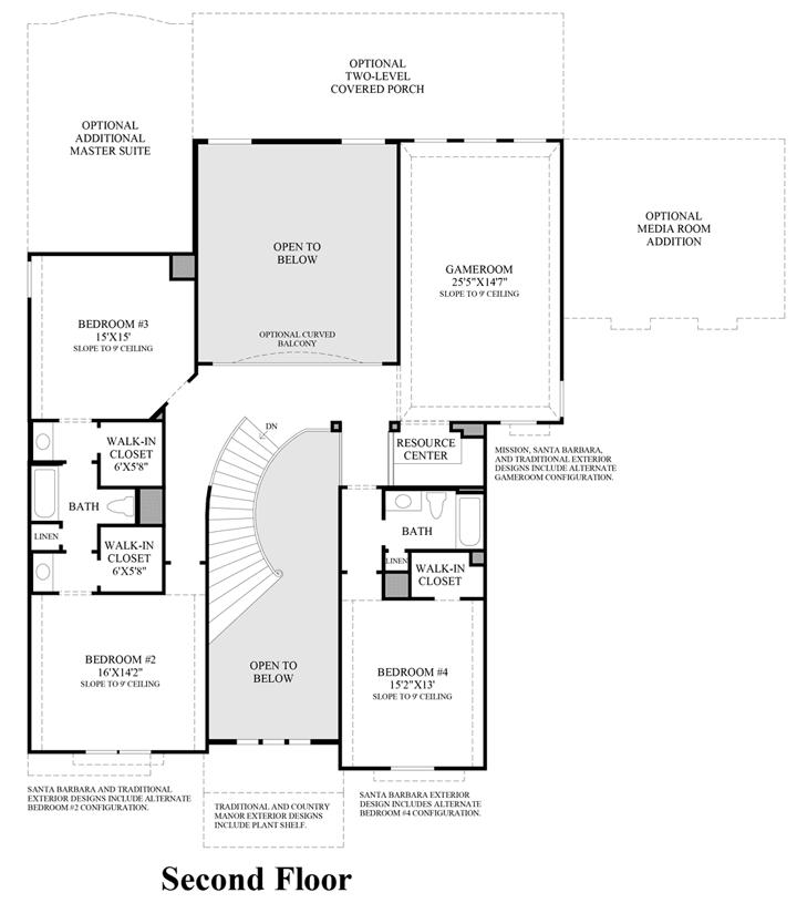 Venetian Floor Plan | Venetian Plan Spring Texas 77386 Venetian Plan At Woodson S