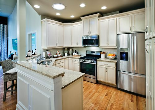 Kitchen-in-Hickory-at-Ridgewood at Middlebury-in-Middlebury