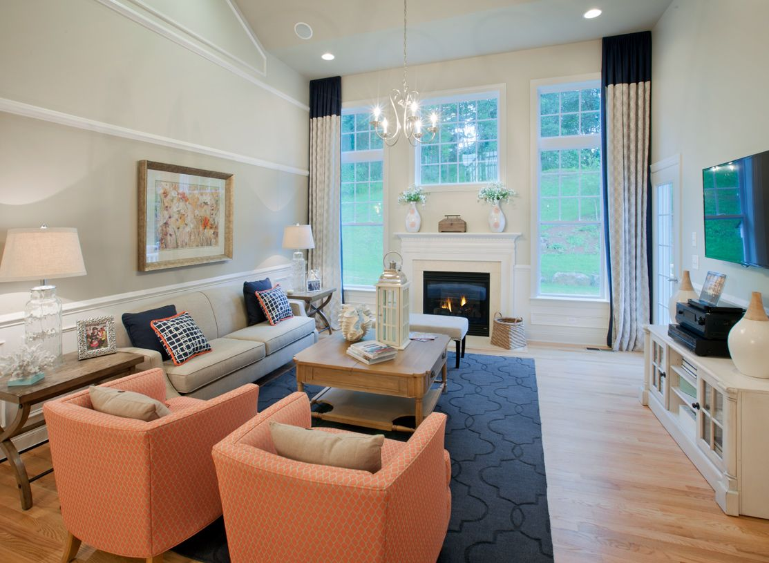 Living Area featured in the Hickory By Toll Brothers in Waterbury, CT