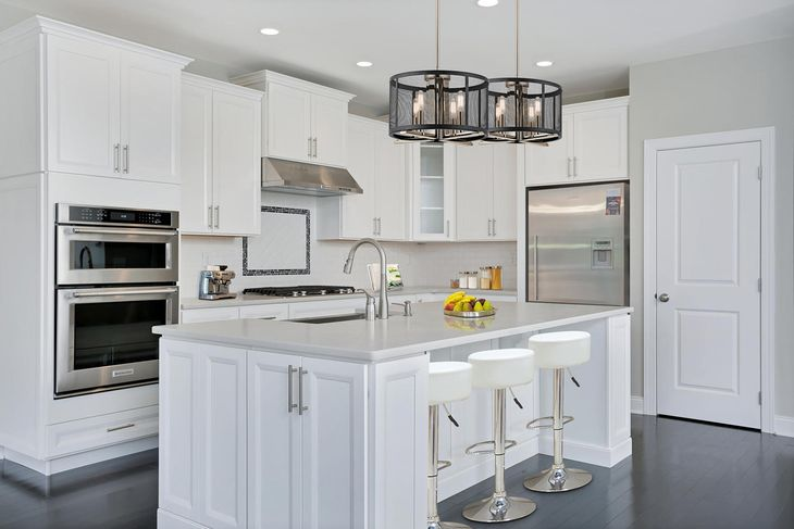 Elevation Image:Modern kitchen with beautiful Century cabinets