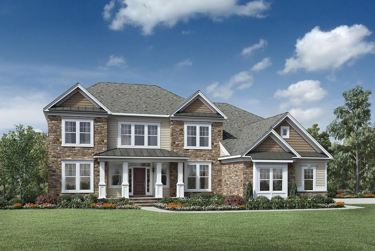 Exterior featured in the Harding By Toll Brothers in Bergen County, NJ