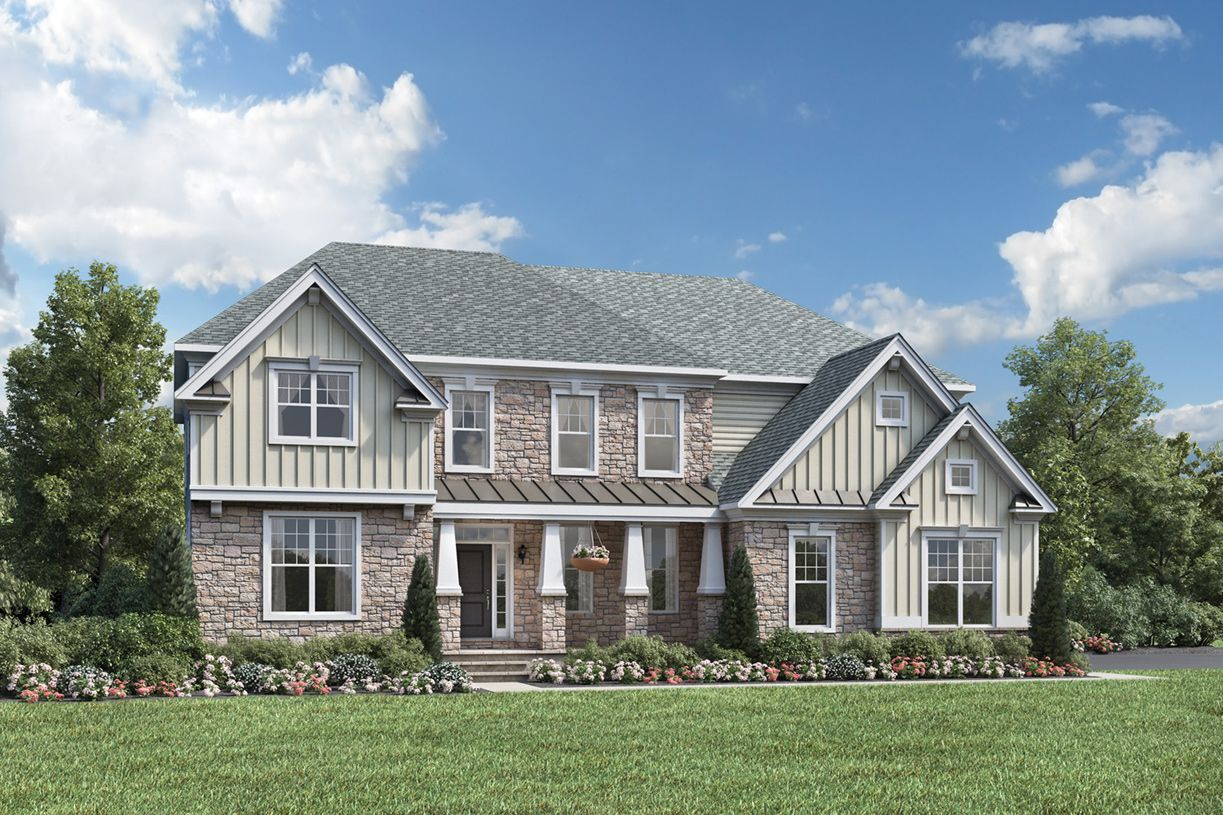 Exterior featured in the Stansbury By Toll Brothers in Bergen County, NJ