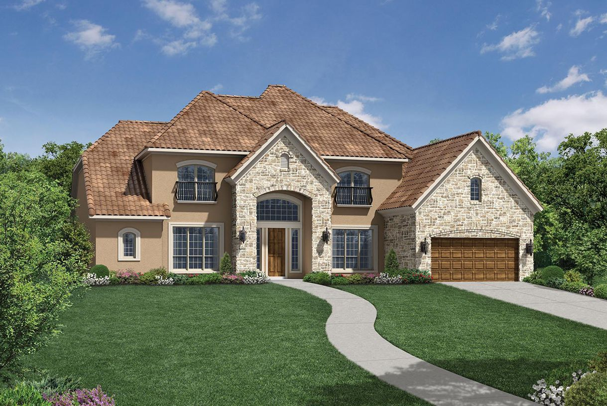Exterior featured in the Merida By Toll Brothers in Houston, TX