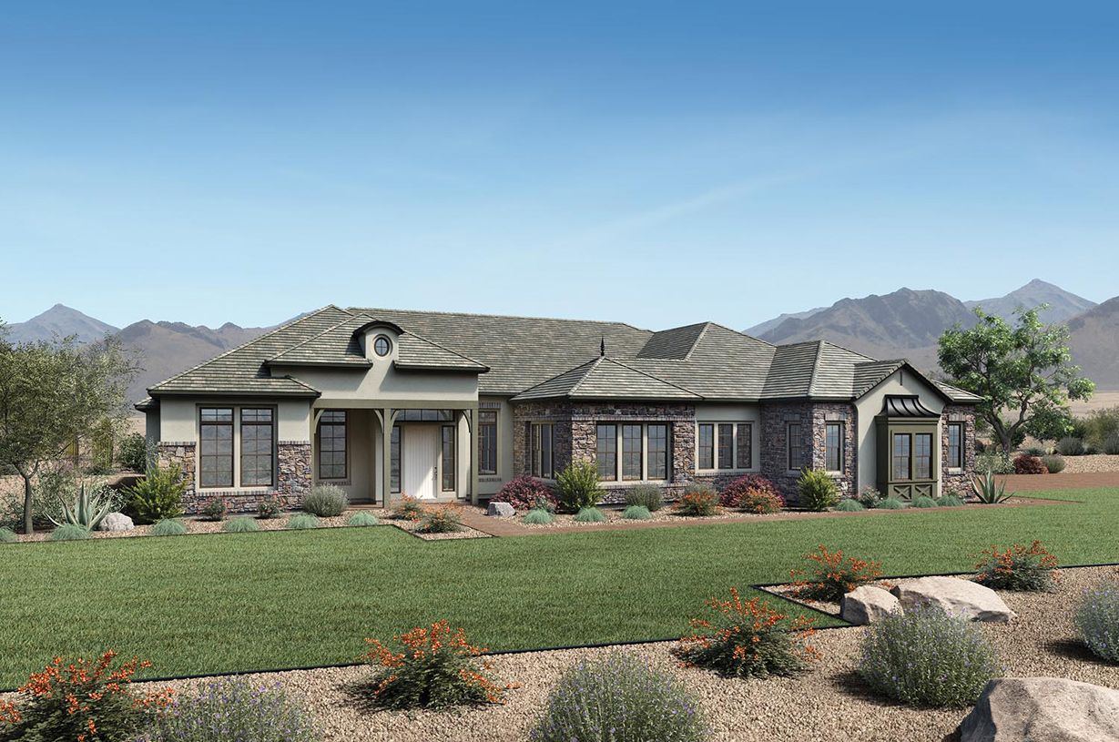 Exterior featured in the Weston By Toll Brothers in Phoenix-Mesa, AZ