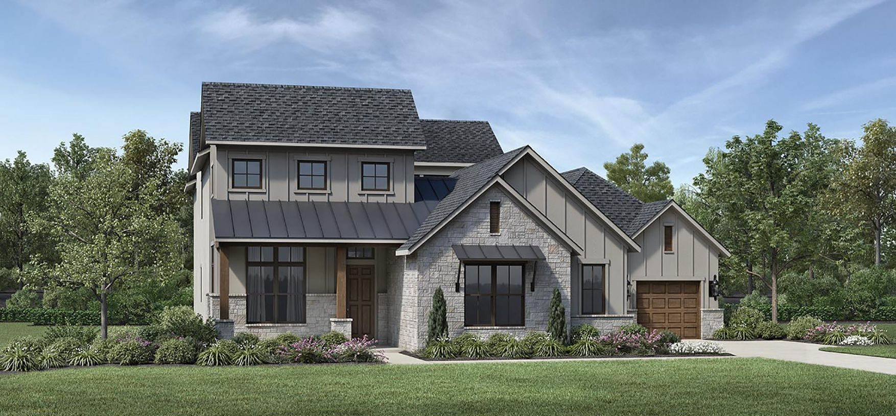 Exterior featured in the Valen By Toll Brothers in Houston, TX